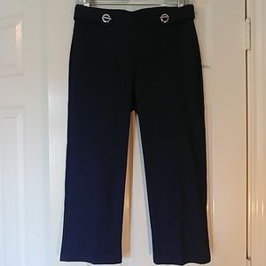 Cropped Heathered Navy Pants